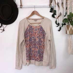Lucky brand floral detail sweater size XL